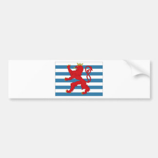 Luxembourg Civil Ensign Bumper Sticker