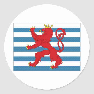 Luxembourg Civil Ensign Classic Round Sticker