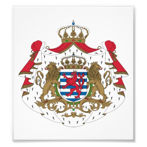 Luxembourg Coat Of Arms Photo Art