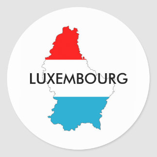 luxembourg country flag map shape silhouette round sticker