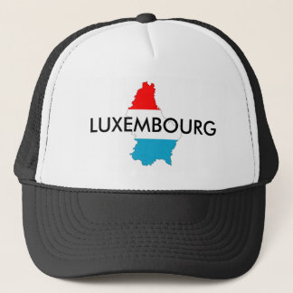 luxembourg country flag map shape silhouette trucker hat
