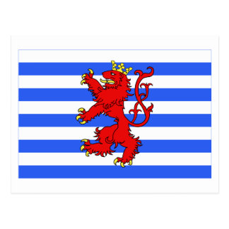 Luxembourg Flag (de facto) Postcard