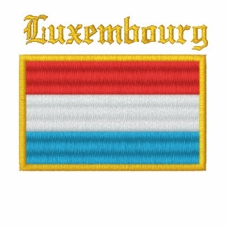 Luxembourg Flag Embroidered Polo Shirt