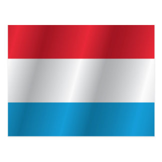 Luxembourg flag postcard