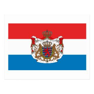 Luxembourg Flag w COA Postcard