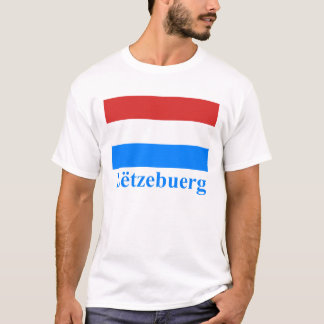 Luxembourg Flag with Name in Luxembourgian T-Shirt