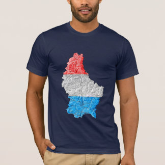 Luxembourg Flagcolor Map T-Shirt