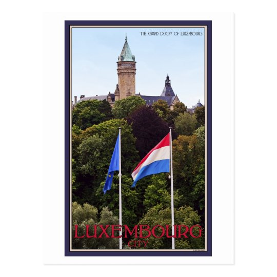 Luxembourg Flags Postcard