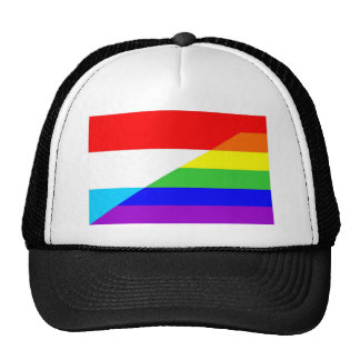 luxembourg gay proud rainbow flag homosexual mesh hat