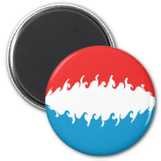 Luxembourg Gnarly Flag 6 Cm Round Magnet