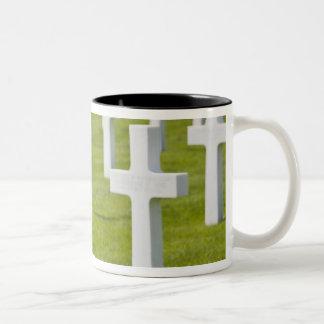 Luxembourg, Hamm. US Military Cemetery Two-Tone Coffee Mug
