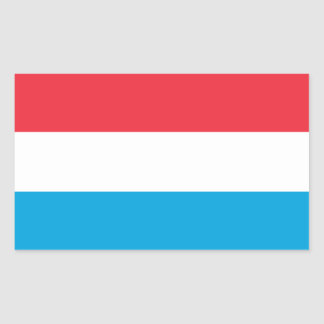 Luxembourg/Luxembourger Flag Rectangular Sticker