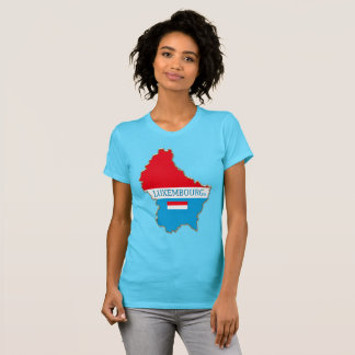 Luxembourg Map Designer Shirt Apparel  Him or Hers