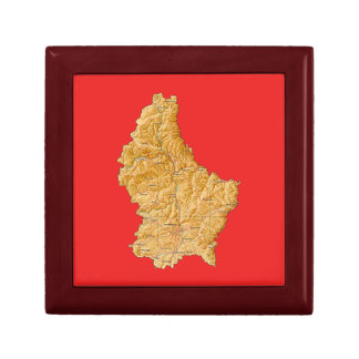 Luxembourg Map Gift Box