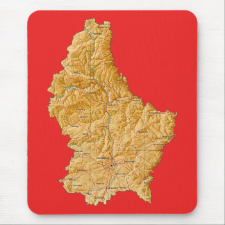 Luxembourg Map Mousepad