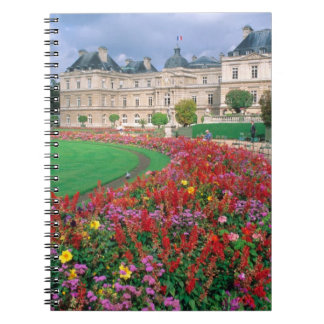 Luxembourg Palace in Paris, France. Notebook