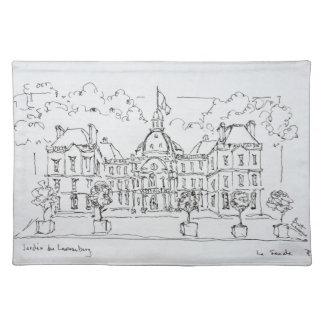 Luxembourg Palace   rue de Vaugirard, Paris Placemat
