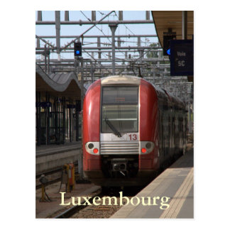 Luxembourg Railway Station Postcard