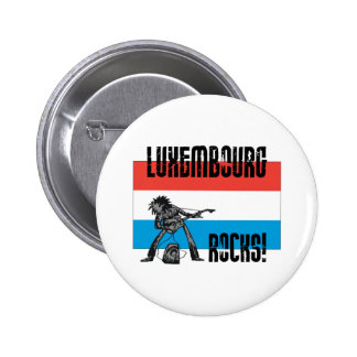 Luxembourg Rocks 6 Cm Round Badge