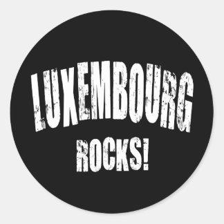 Luxembourg Rocks! Classic Round Sticker