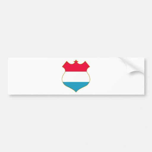 Luxembourg-shield.png Bumper Sticker