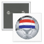 Luxembourg Soccer Ball Pinback Button