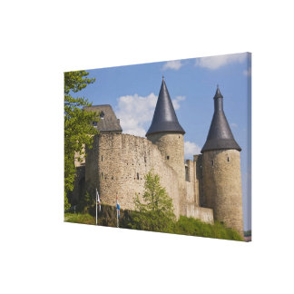 Luxembourg, Sure River Valley. Bourscheid, Canvas Print