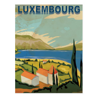Luxembourg Vintage Travel Poster Postcard