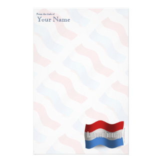 Luxembourg Waving Flag Personalised Stationery