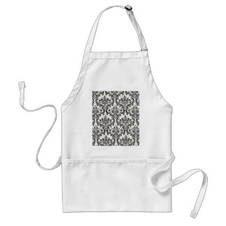 LUXERY BLACK AND WHITE 2 STANDARD APRON