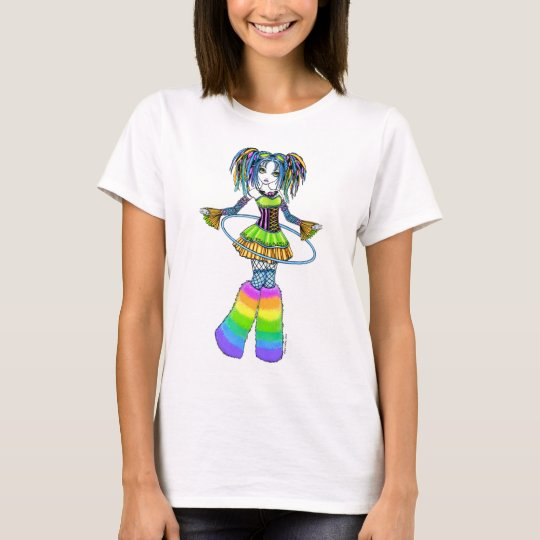 """Luxie"" Rainbow Cyber Goth Faerie Tank Top"