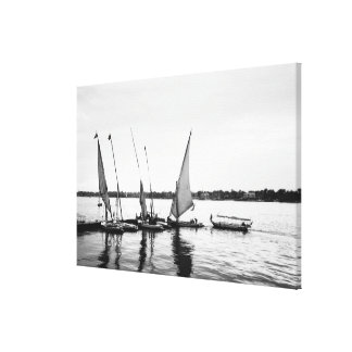 Luxor Egypt, Feluccas on the Nile 2 Canvas Print