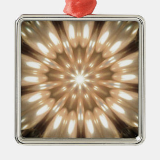 Luxurious Antique Pearls Kaleidoscope Silver-Colored Square Decoration