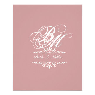 Luxurious Classic Elegant Pursuit Monogram 11.5 Cm X 14 Cm Flyer