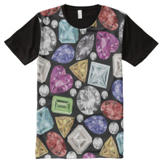 Luxurious colorful Diamond Pattern All-Over Print T-Shirt