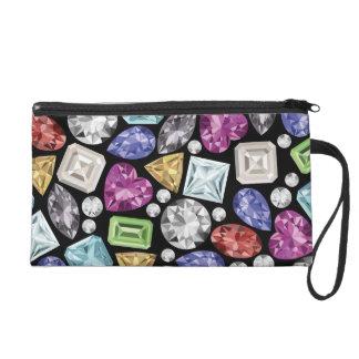 Luxurious colorful Diamond Pattern Wristlets
