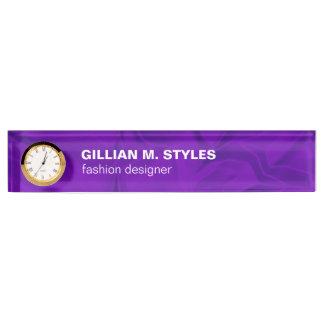 Luxurious Crushed Purple Satin Name Plates
