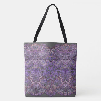 Luxurious,elegant laced pattern in faded-lilac tote bag