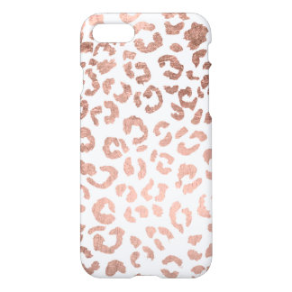 Luxurious hand drawn rose gold leopard iPhone 7 case