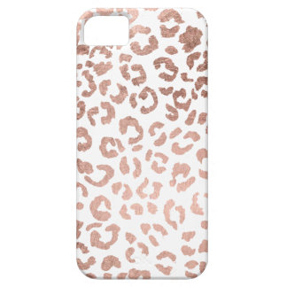 Luxurious hand drawn rose gold leopard print iPhone 5 cases