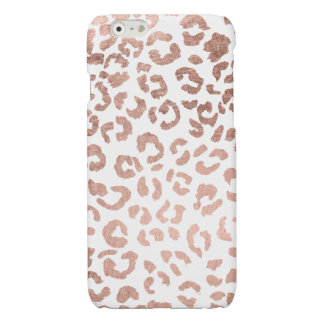 Luxurious hand drawn rose gold leopard print iPhone 6 plus case