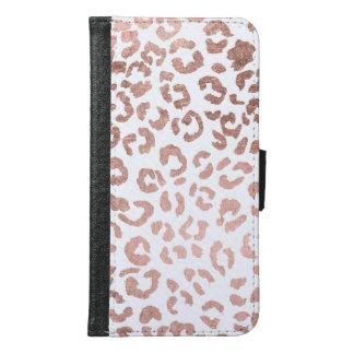 Luxurious hand drawn rose gold leopard print samsung galaxy s6 wallet case