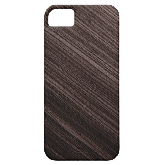 Luxurious Mahogany Wood Look Background Barely There iPhone 5 Case