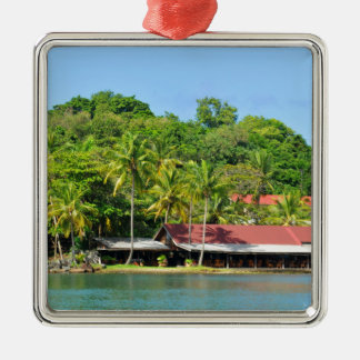 Luxurious resort christmas ornament