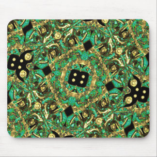Luxury Abstract Golden Grunge Art Mouse Pad