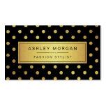 Luxury Black and Gold Glitter Polka Dots Pack Of Standard Business Cards