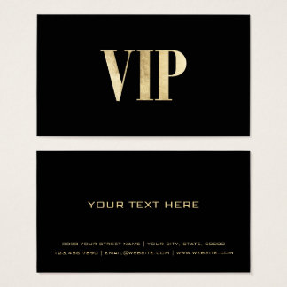 Luxury black and gold VIP card club member