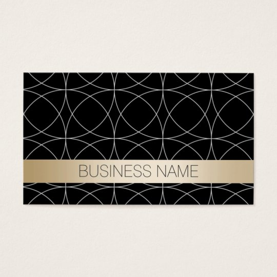 Luxury Black & Gold DJ Music Business Card