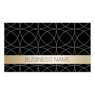 Luxury Black & Gold Funeral Business Cards
