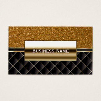 Luxury Black & Gold Glitter Business Card